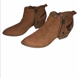 Dolce Vita Brown Ankle Booties Size 7.5